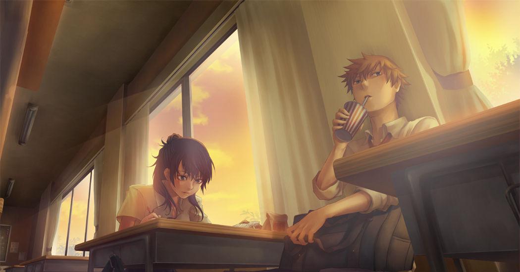 放課後を描いたイラスト特集 静かになった教室に2人きり Pixivision
