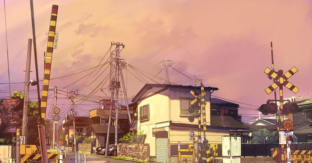 Nostalgic Sound, Railroad Crossing Illustrations