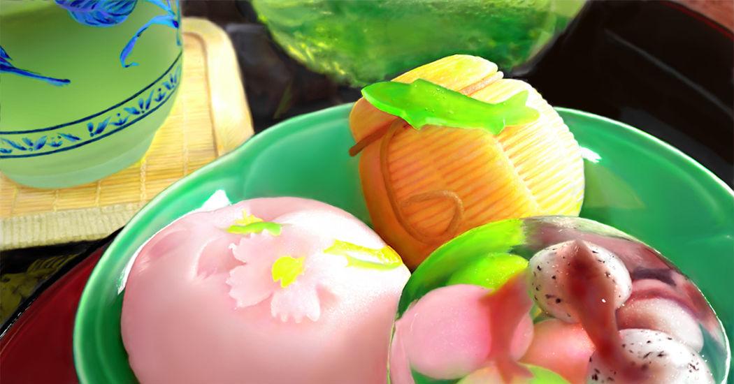Wagashi, Beautiful Japanese Confectioneries