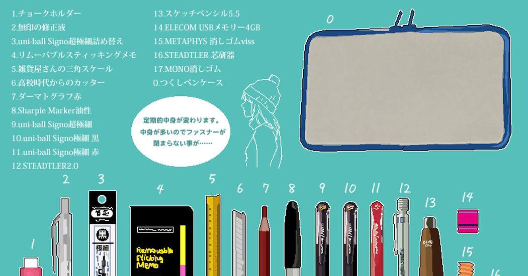 Inside pencil cases!