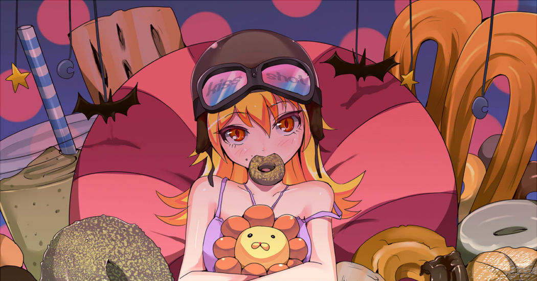 You're cute when you eat ♡ Girls and Donuts