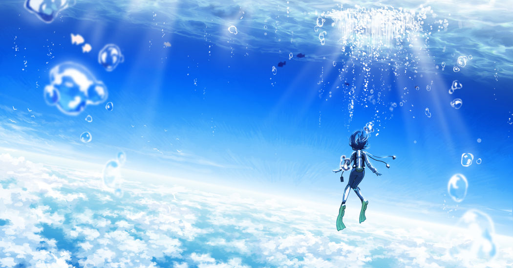 Swimming in the vast sky! A sea of clouds!