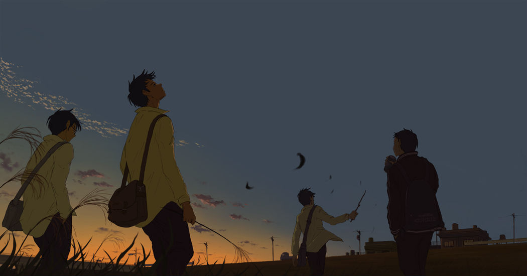 """Let's go home together. """"The scenery on the way home"""" Illustrations"""