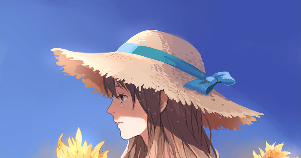 麦わら帽子のイラスト特集 夏の日差しに Pixivision