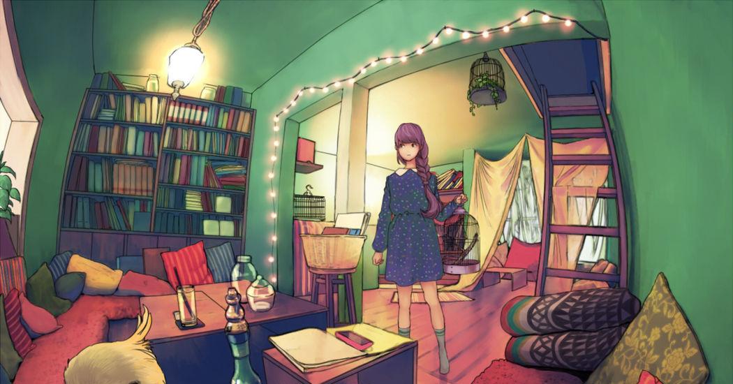 私の部屋のイラスト特集 どんな部屋に住みたい Pixivision