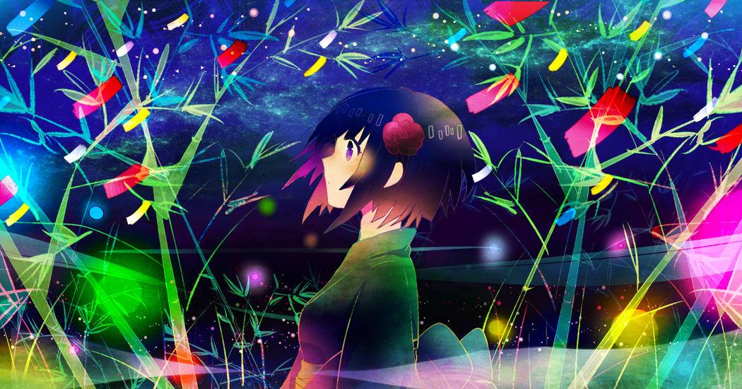 Make a wish! Tanabata Illustrations