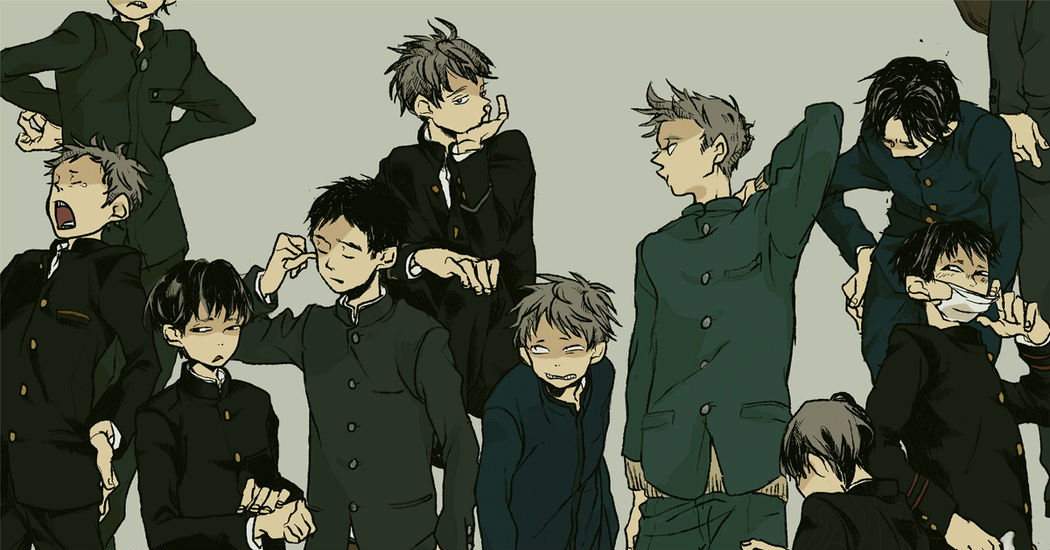 We don't want to fit in. Drawings of Boys in Gakuran