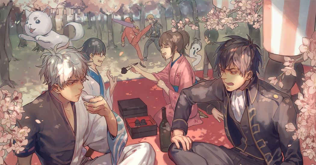 Blossoms for the sons of Japan. Cherry Blossom and Guys