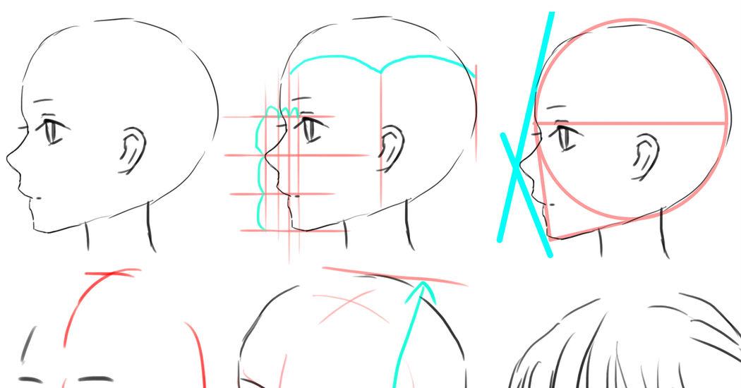 How to draw anime faces and heads