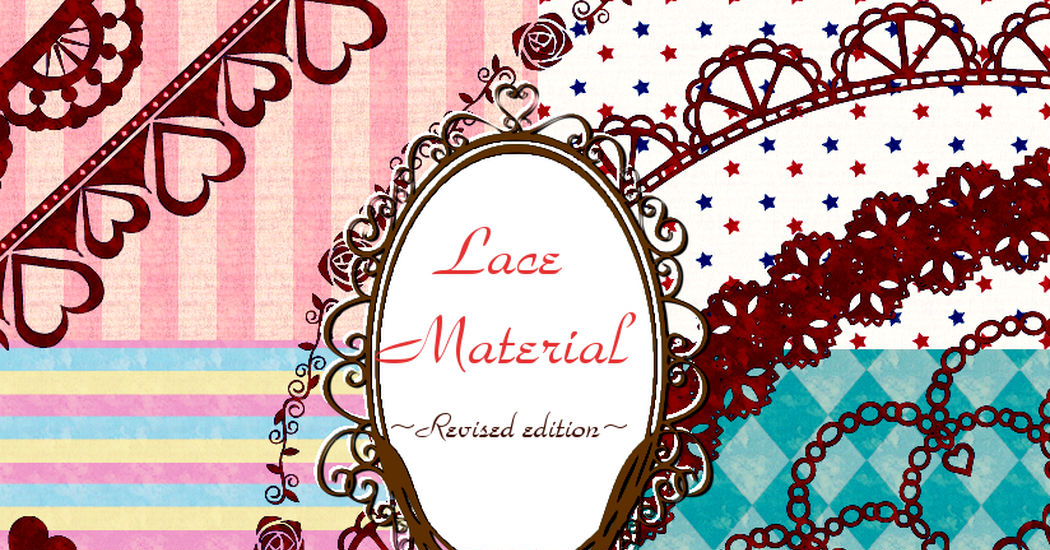 Framing with cute decorations! 20 lace materials, graphics you can use for free