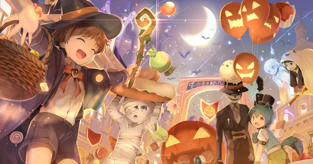 Halloween, Fancy Costumes and Pumpkins♪