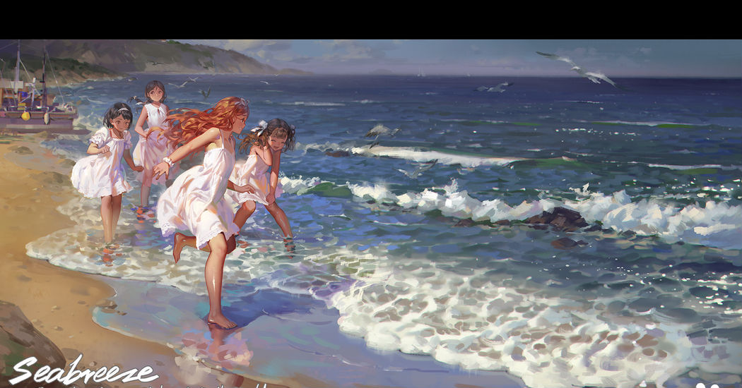 What a breath-taking scenery! Beach Illustrations