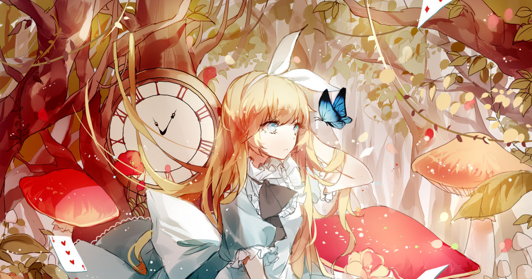 "Chase the White Rabbit! ""Alice in Wonderland"" Illustrations"