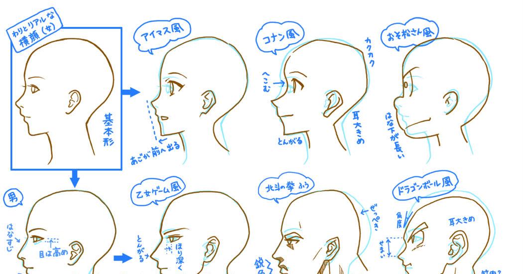 横顔の描き方 簡単にコツが掴める初心者でも分かりやすいイラスト講座