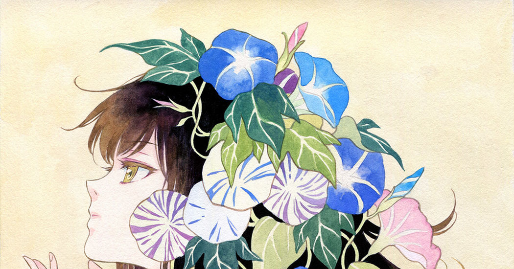 Blossoms that make you adore mornings♡ Japanese Morning Glory Illustrations