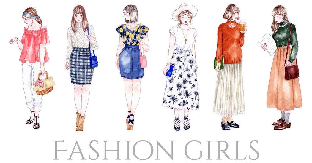 ハイセンスなファッションを描いたイラスト特集 まるでファッション