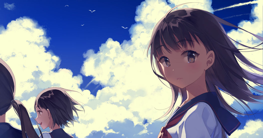 The sky that I saw with you that day. Illustrations of The Summer Sky