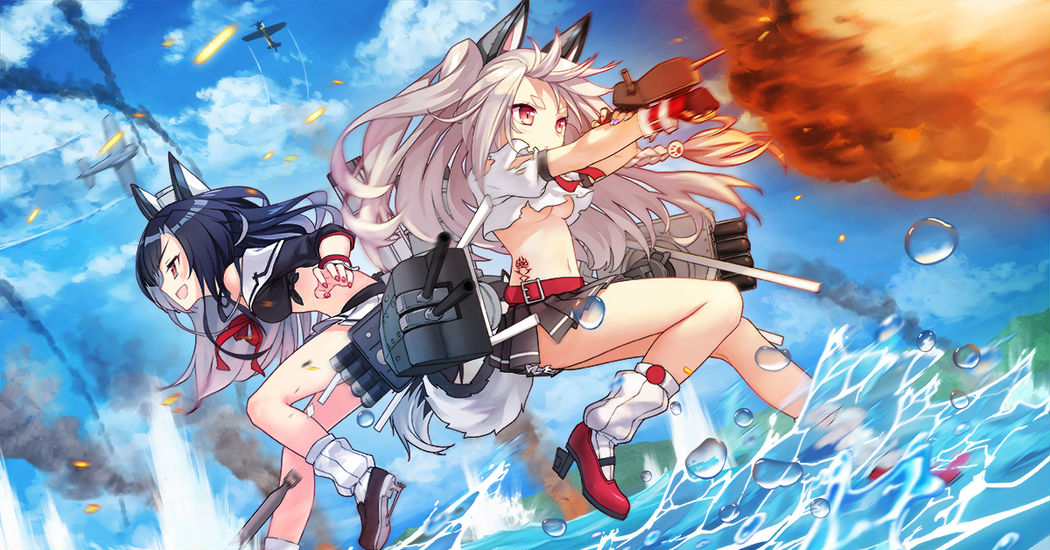 """An exciting naval battle! """"Azur Lane"""" Official Drawings"""