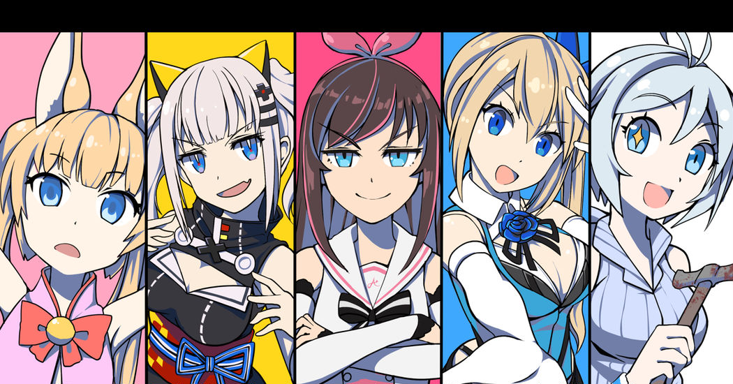 A gathering of beautiful girls♡Virtual YouTubers