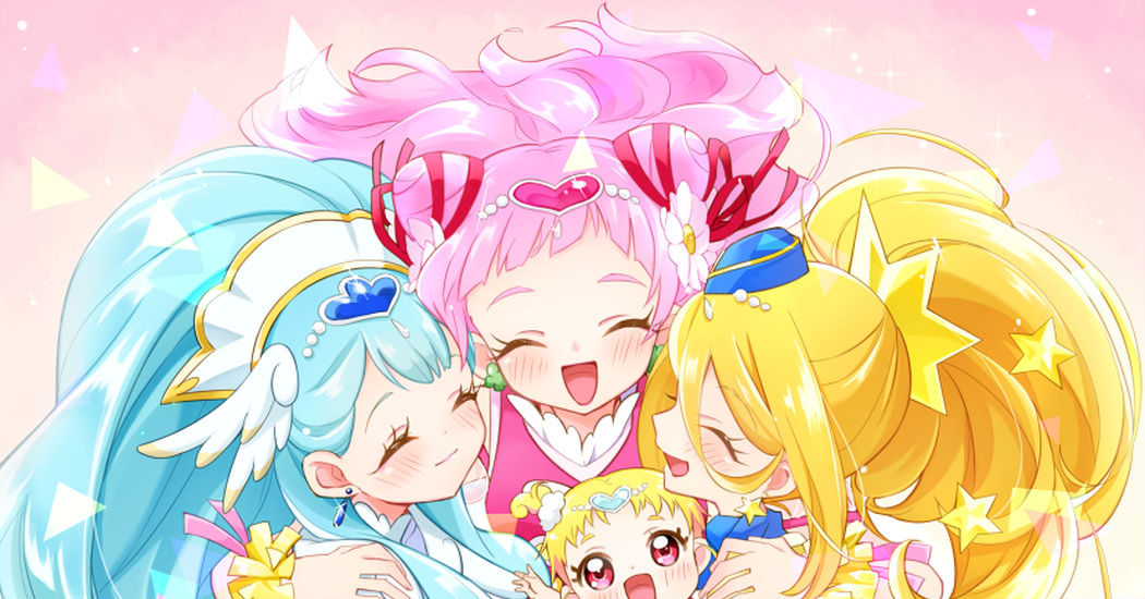 "This 15th year, the first generation is joining the fight♡ ""Hugtto! PreCure"" & ""Futari wa Pretty Cure"" Fan-arts"