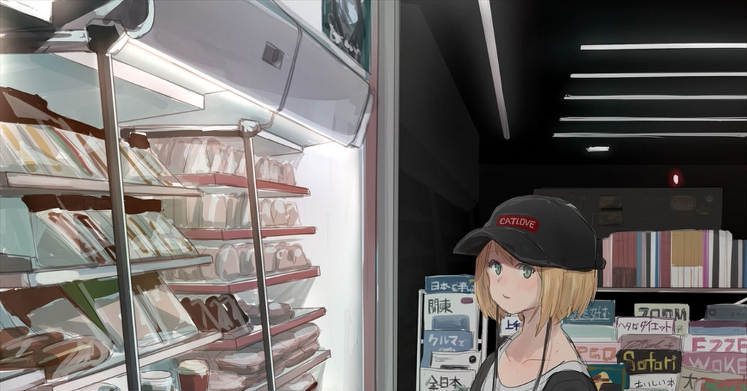 Drawings That Will Make You Want to Go to the Convenience Store - Just a quick stop.