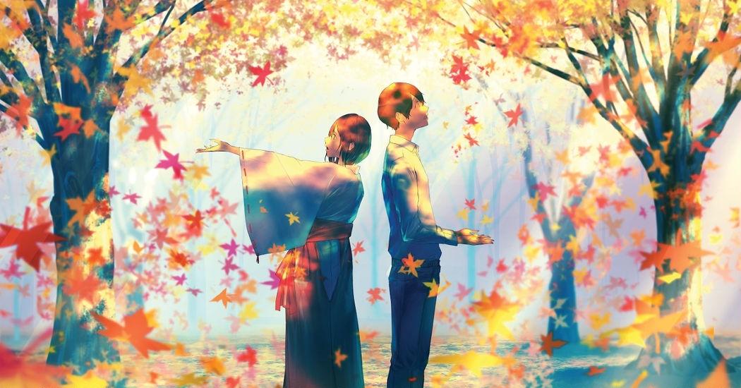 Into a Calming Season. Autumn Illustrations