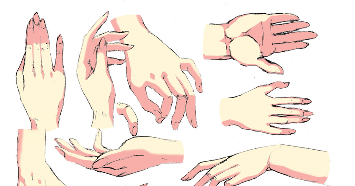 15 Hand Poses Sheets - Resources For Your Drawings!