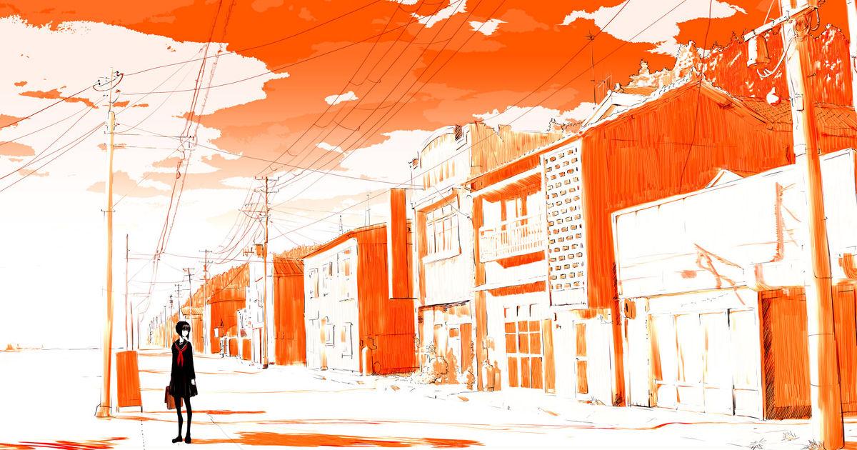 Feels So Warm, Orange Drawings (Color Series)