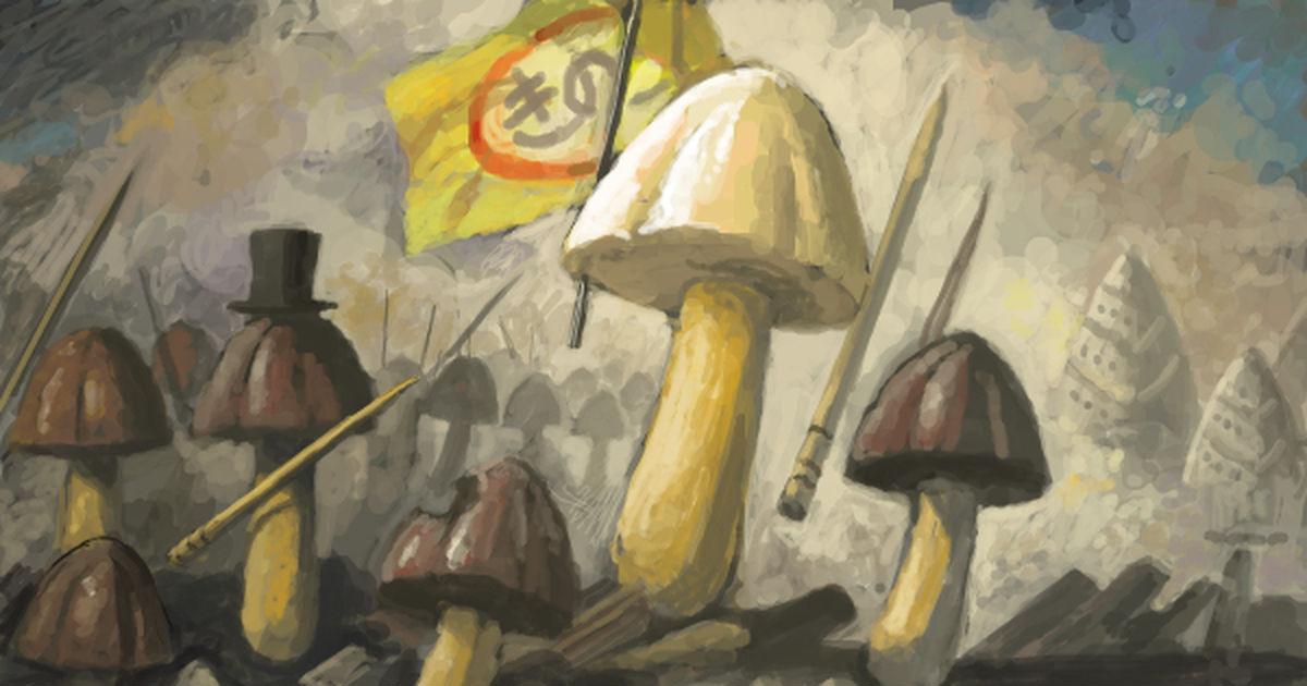 Mushroom vs Bamboo Shoot