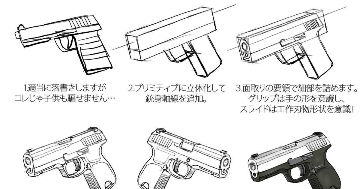 How to Draw Guns: 12 Ways of Holding Them, Hands and Weapons in Action Scenes
