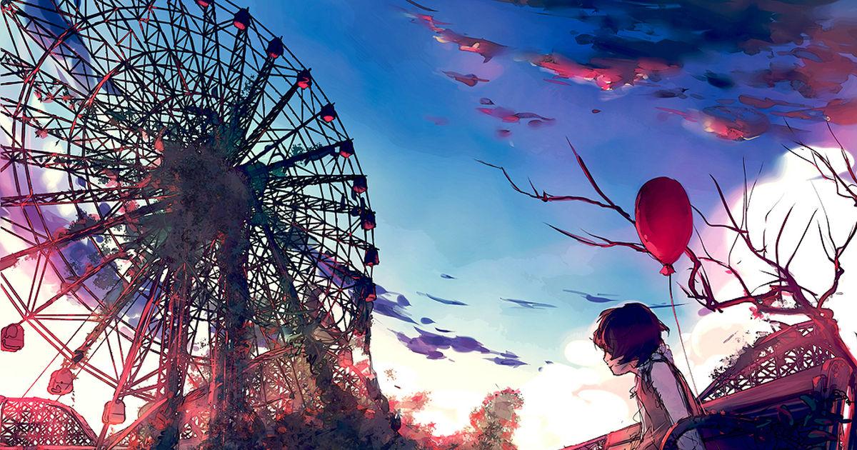 The world is below us. Ferris Wheels