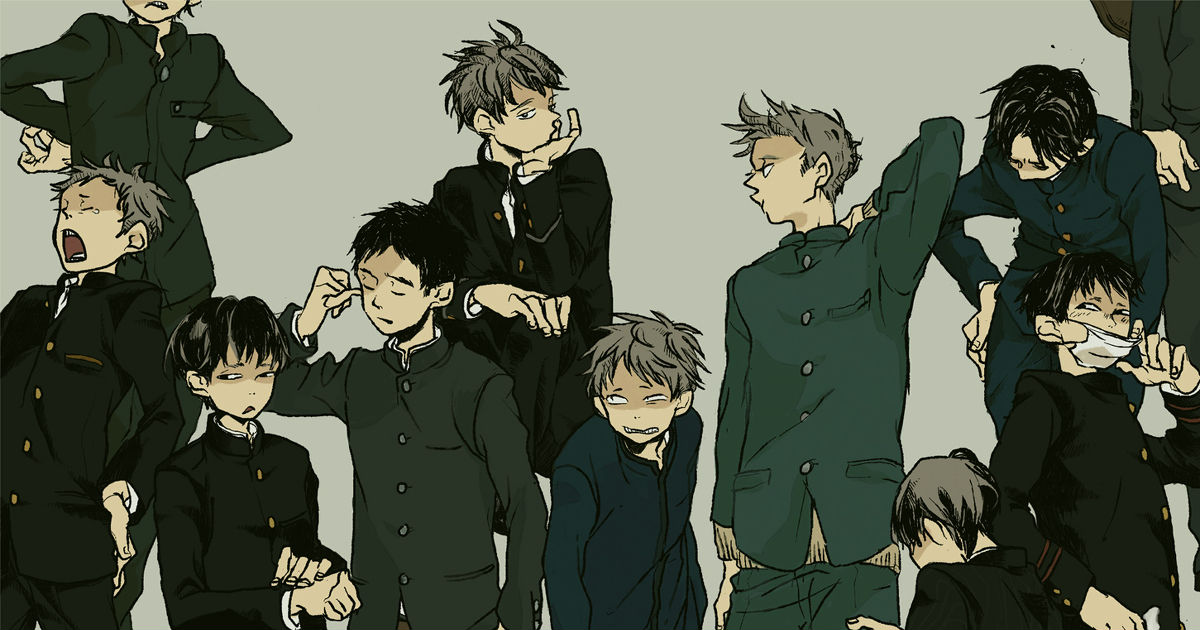 Drawings of Boys in Gakuran - We don't want to fit in.