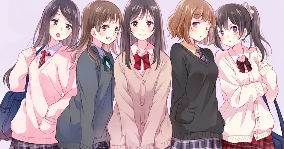 School Uniforms + Cardigans for the Turn of Seasons♪
