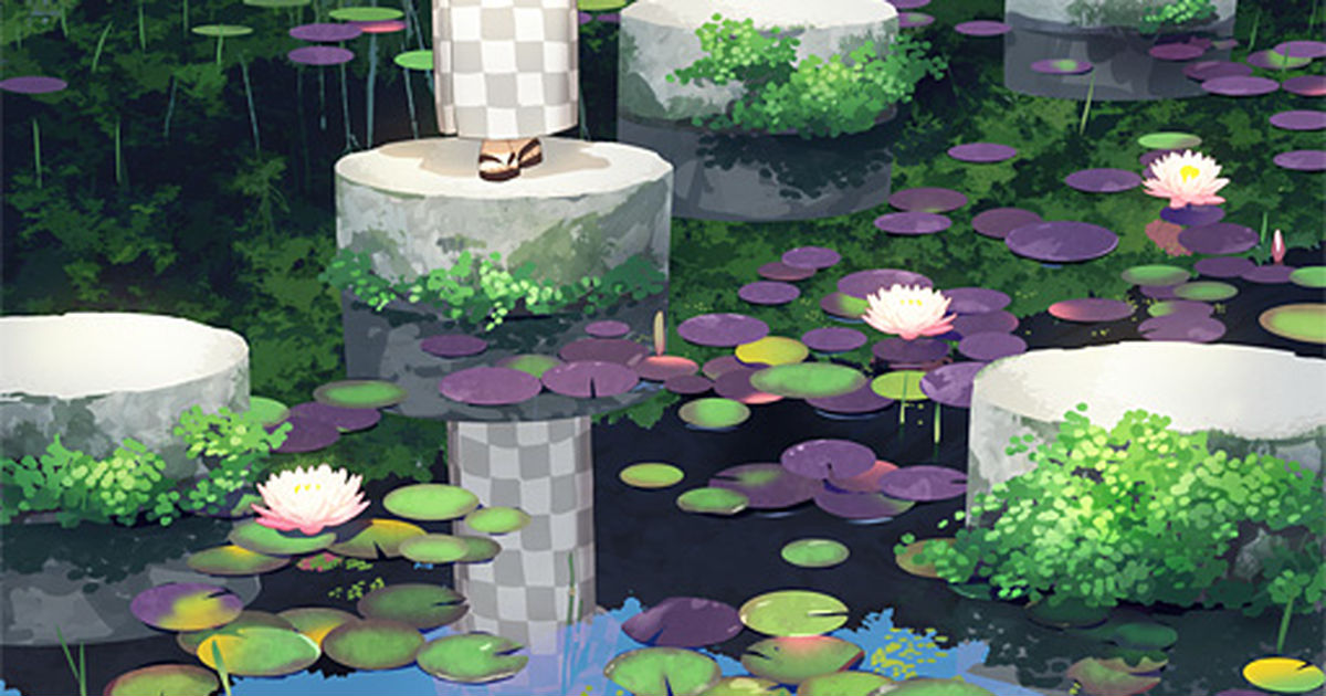 Floating Fairy, Water Lily