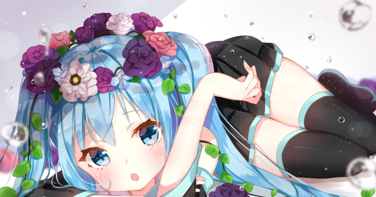 Girls With Flowers In Their Hair