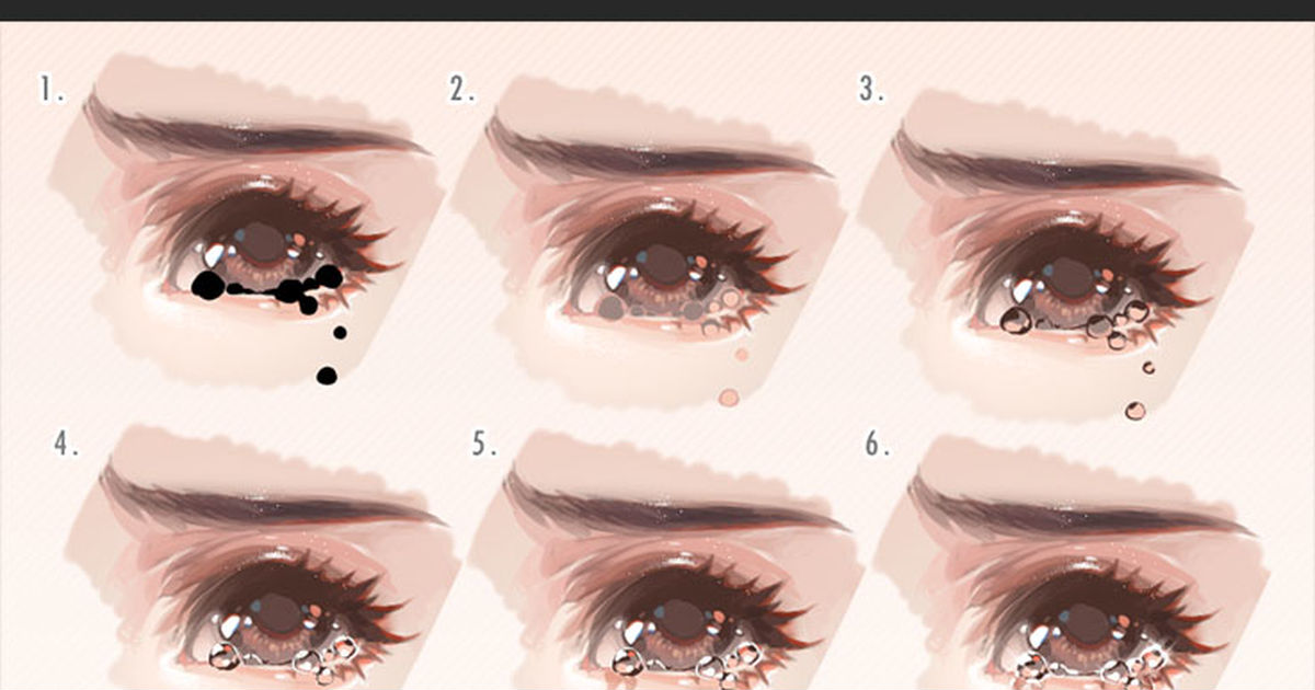 7 ways: How to Draw Tears of Attractive Crying Faces