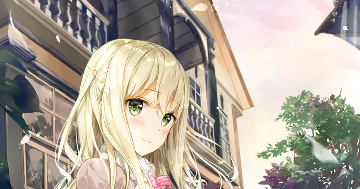 Just like a princess in a fairy-tale♡! Long-haired blond girls!