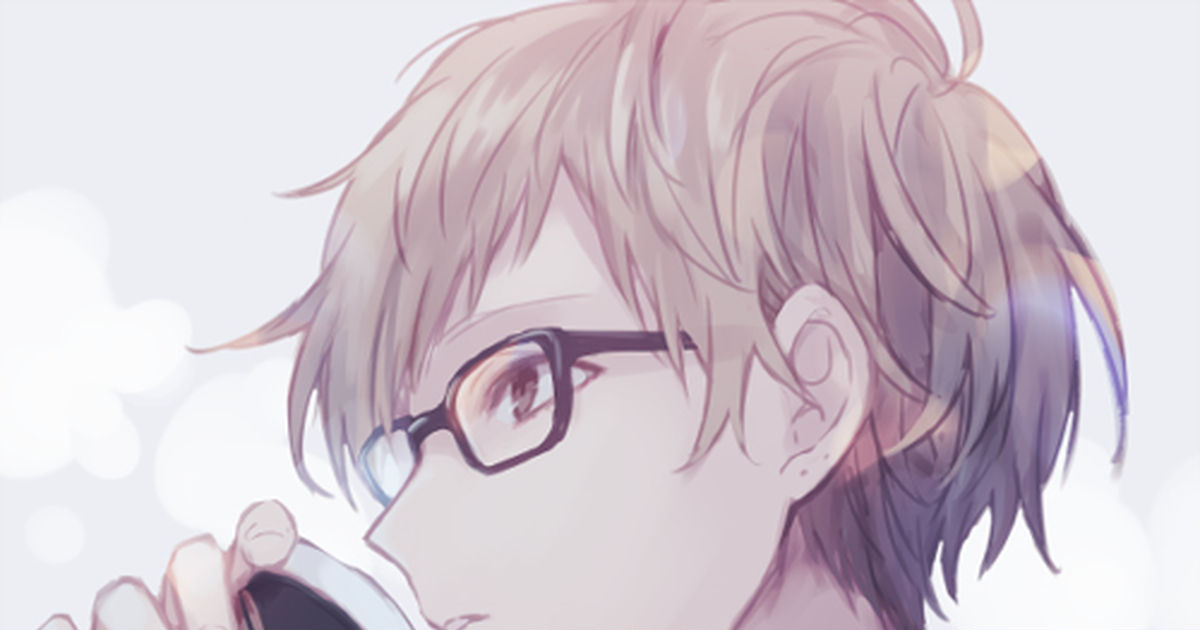 Look at me with those intelligent eyes. Drawings of Men with Glasses