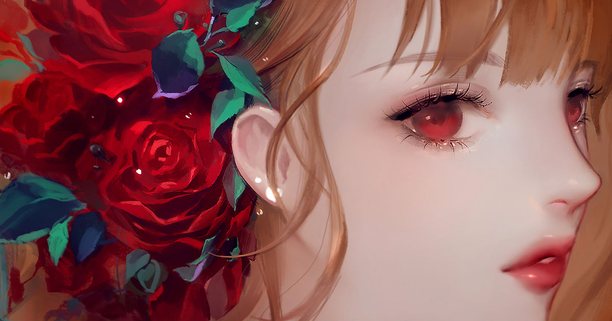 Even the thorns are beautiful. Roses and Girls