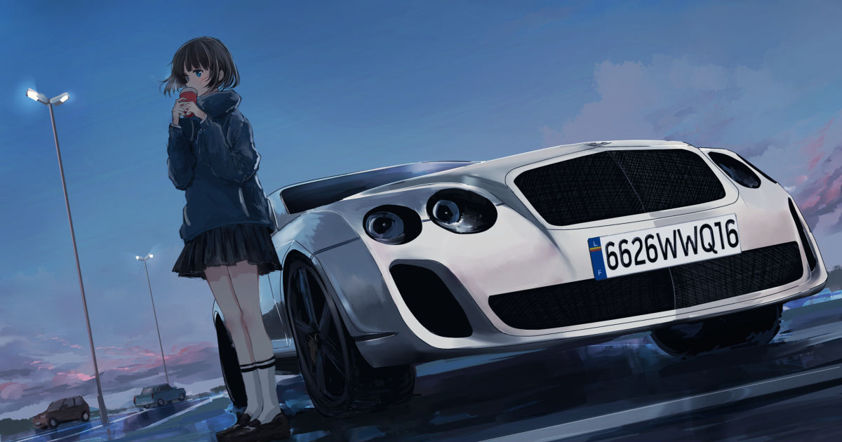 I can go to the edge of the world with you! Drawings of Cars and Girls