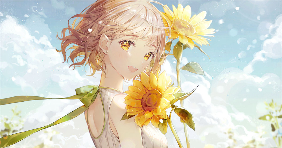 Staring straight at the sun♡ Drawings of Sunflowers