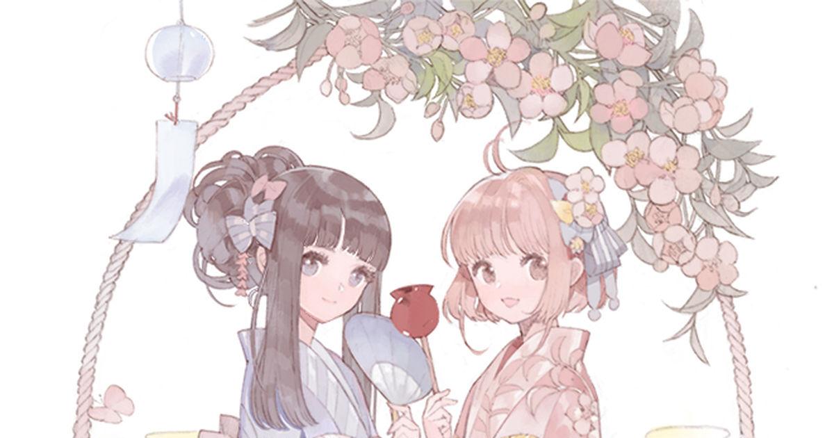 So soft and cute ♡ The charming pretty women drawn by Ririfa (浮).