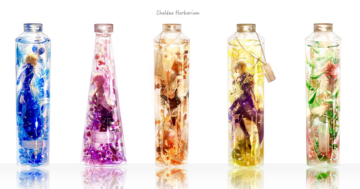 Herbarium Drawings  - Enclosed in a tiny bottle.
