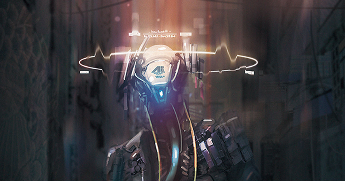 The future is approaching! Cyberpunk Drawings