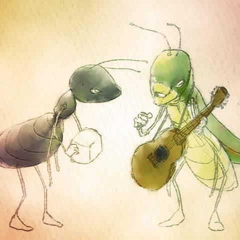 アリ と キリギリス コンビ
