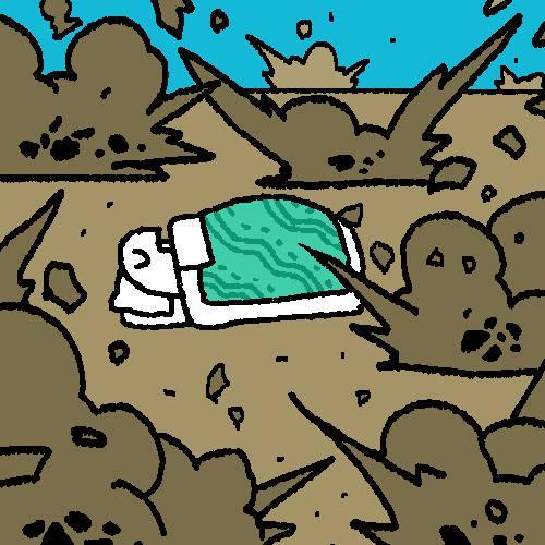 爆撃 絨毯