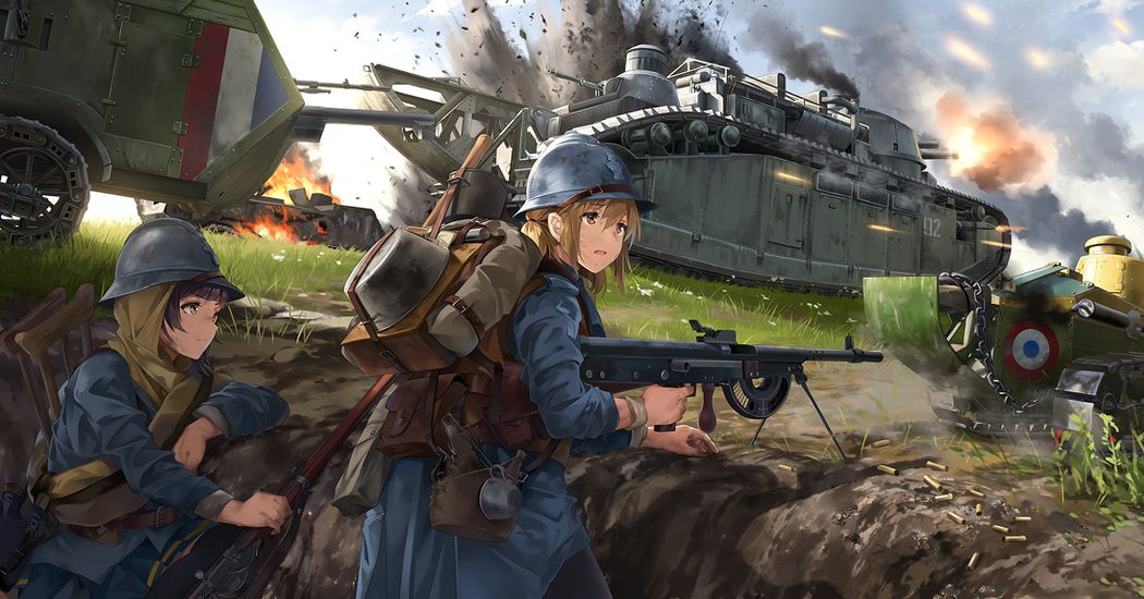 Rush through the battlefield!  Tank Illustrations