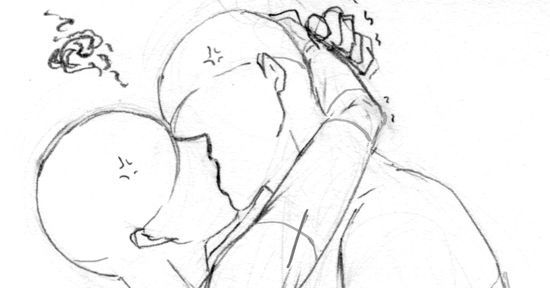 How to Draw a Kiss Scene (Highlights Differences in Physical Structures As Well)