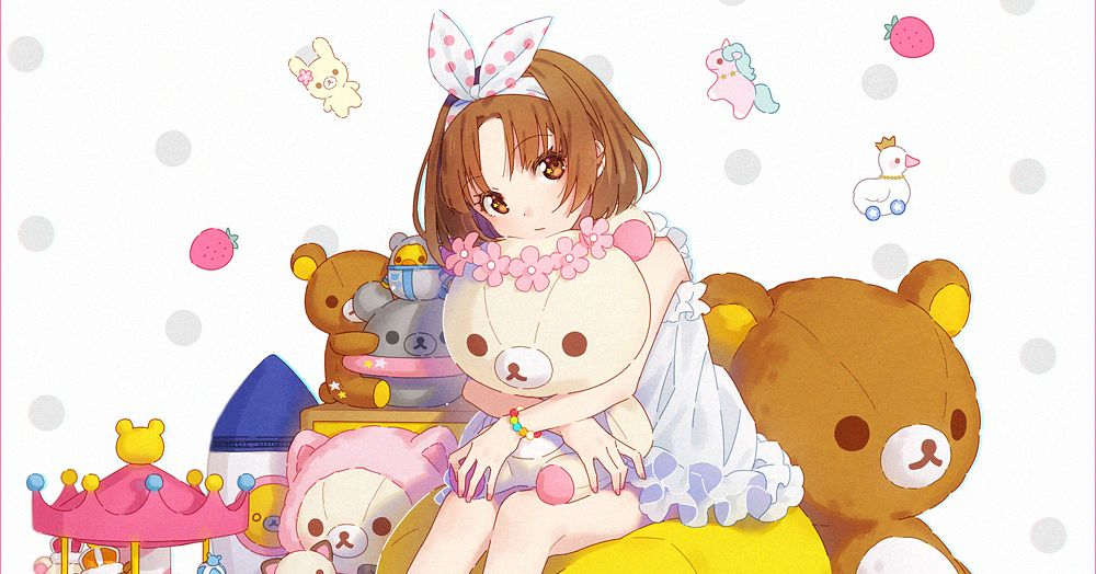 Comforting and loved for it♡ Illustrations Accented with Rilakkuma