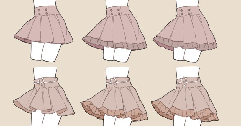 How to Draw Skirts (Pleated? Flared?)